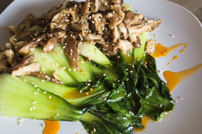 Garlic Shiitake Bok Choy
